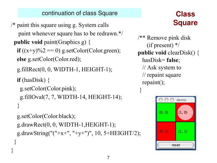 Class Square
