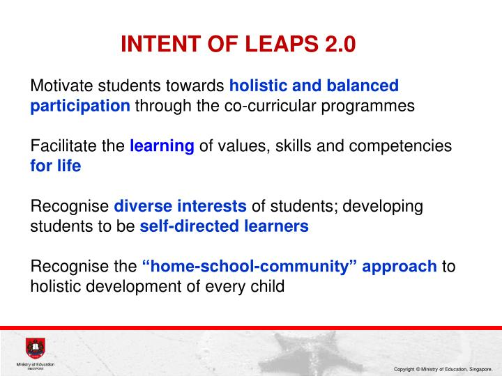 INTENT OF LEAPS 2.0