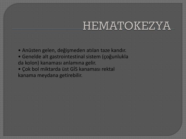 HEMATOKEZYA