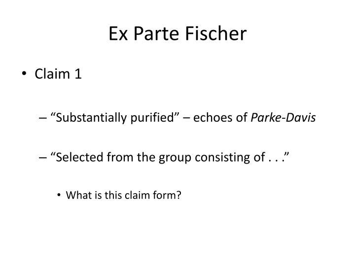 Ex Parte Fischer