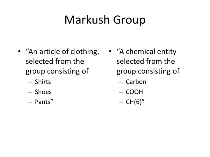 """""""An article of clothing, selected from the group consisting of"""