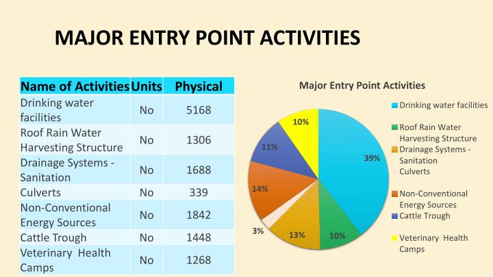 Major Entry Point Activities