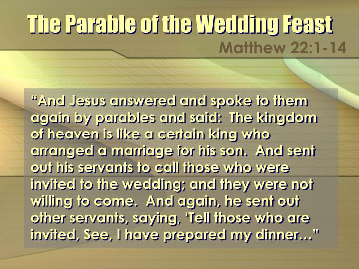the parable of the wedding feast n.