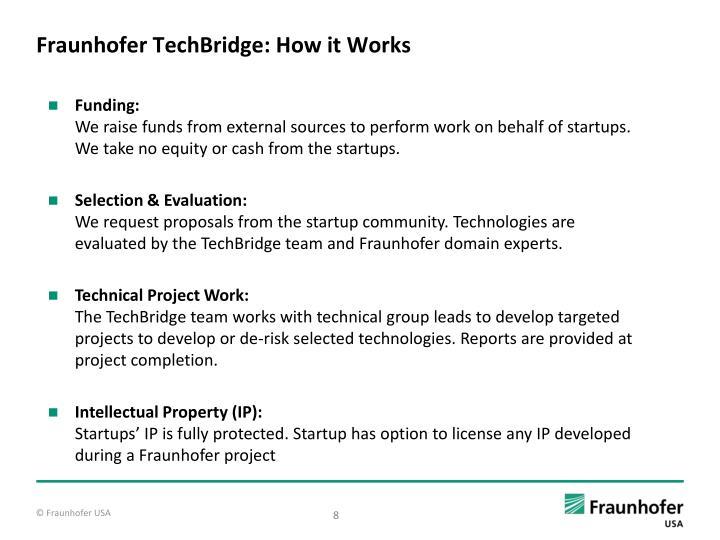 Fraunhofer TechBridge: How it Works