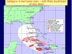 category 4 hurricane ivan 635 miles southeast of key west