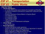 esf 1 transportation esf 3 public works5