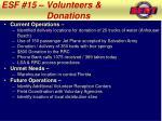 esf 15 volunteers donations1