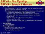 esf 4 fire fighting esf 9 search rescue1