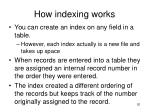 how indexing works