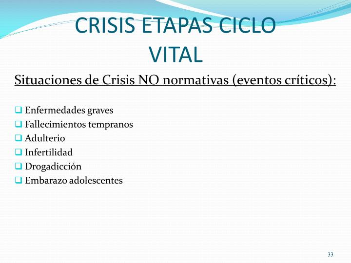 CRISIS ETAPAS CICLO VITAL