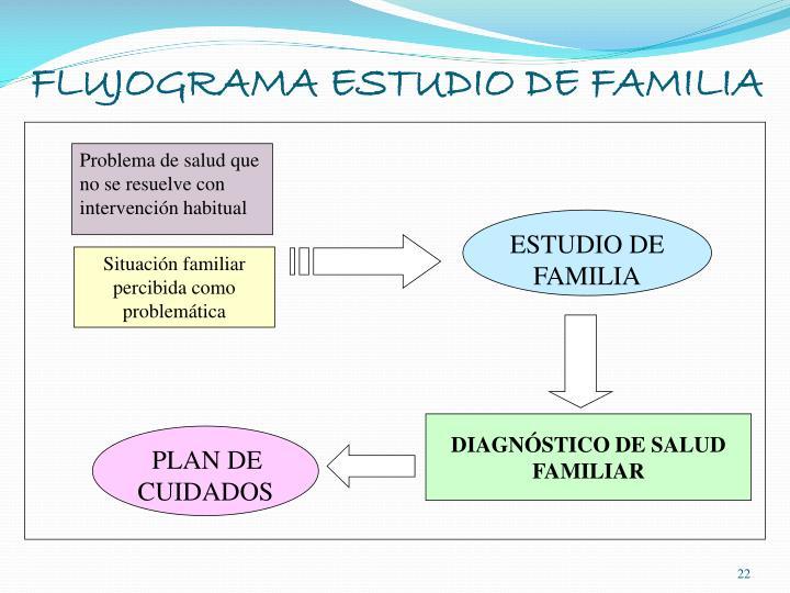 FLUJOGRAMA ESTUDIO DE FAMILIA