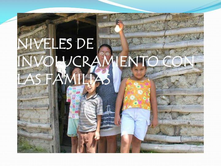 NIVELES DE INVOLUCRAMIENTO CON LAS FAMILIAS