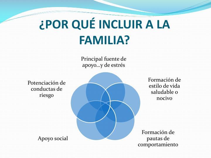 ¿POR QUÉ INCLUIR A LA FAMILIA?