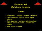 elevated ag metabolic acidosis