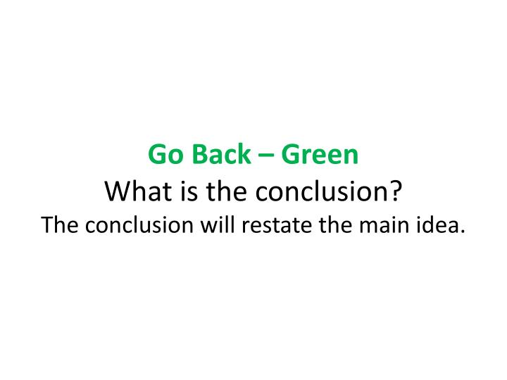 Go Back – Green