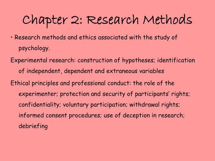 chapter 2 research methods in psychology