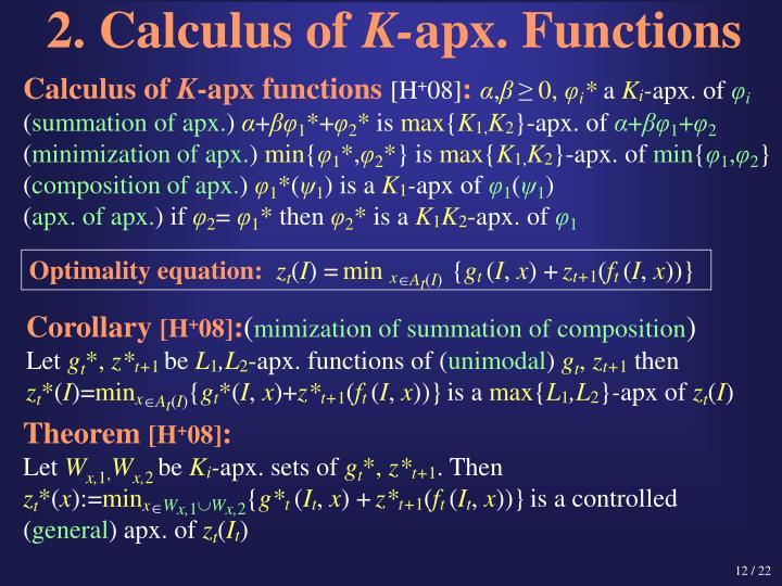 2. Calculus of
