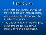 rent to own