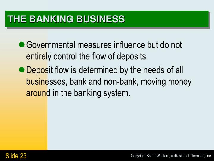 THE BANKING BUSINESS