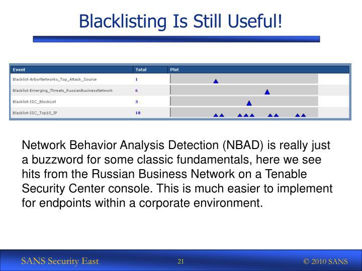 Blacklisting Is Still Useful!
