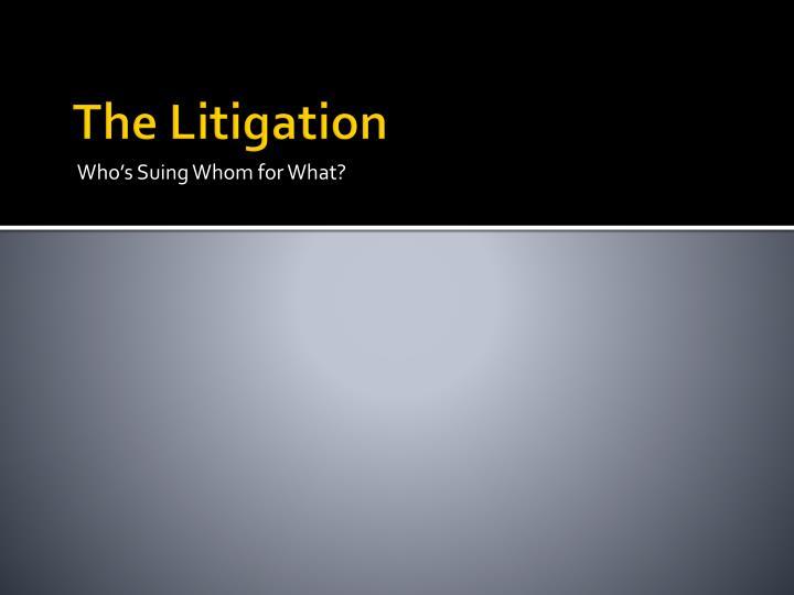 The Litigation