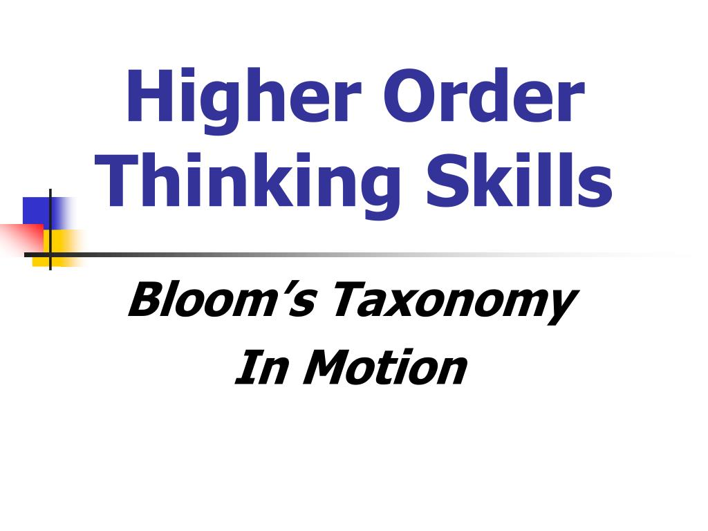 Ppt Higher Order Thinking Skills Powerpoint Presentation Id7043422
