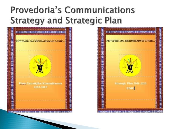 Provedoria s communications strategy and strategic plan