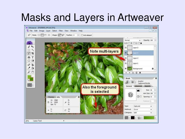 Masks and Layers in Artweaver