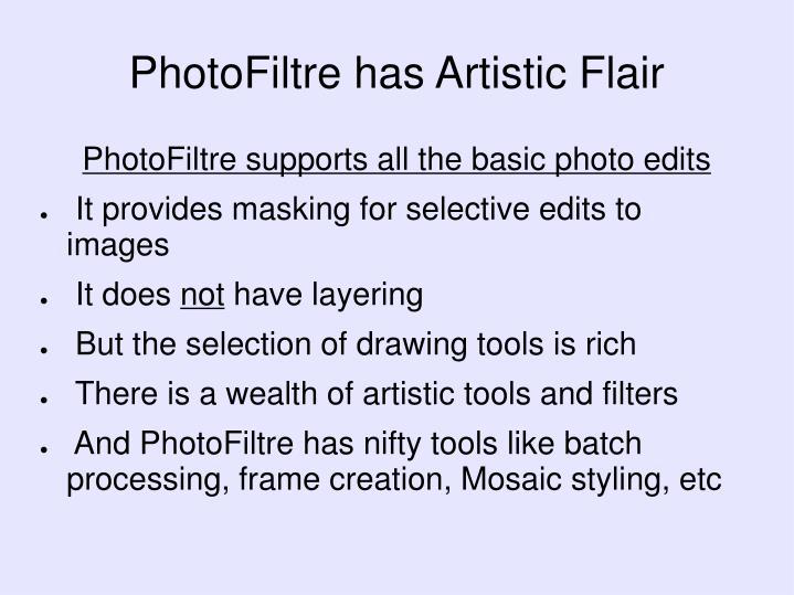 PhotoFiltre has Artistic Flair
