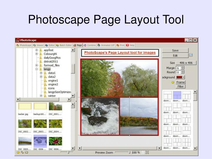 Photoscape Page Layout Tool