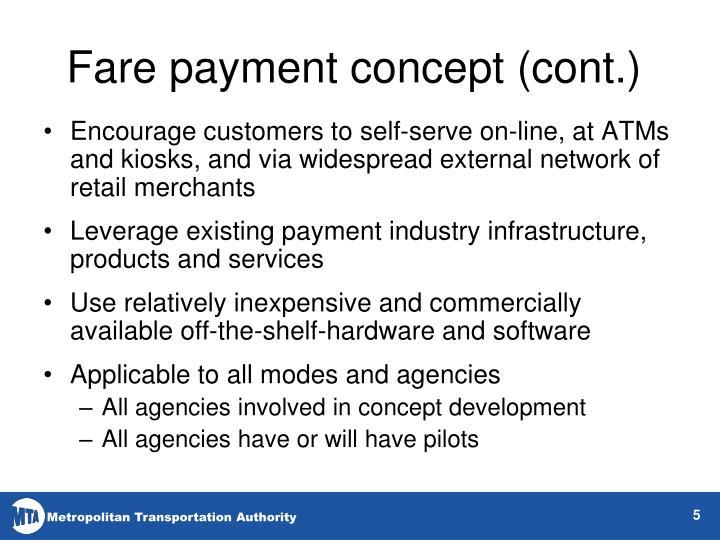 Fare payment concept (cont.)