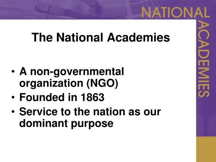 The national academies