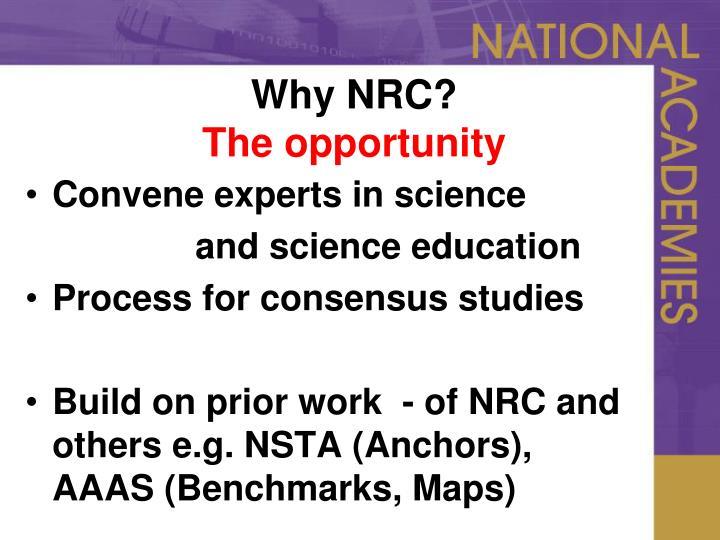 Why NRC?