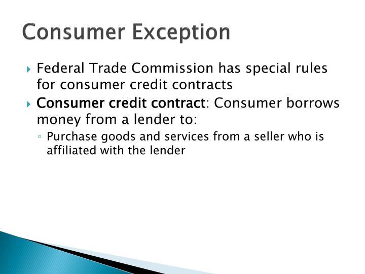 Consumer Exception