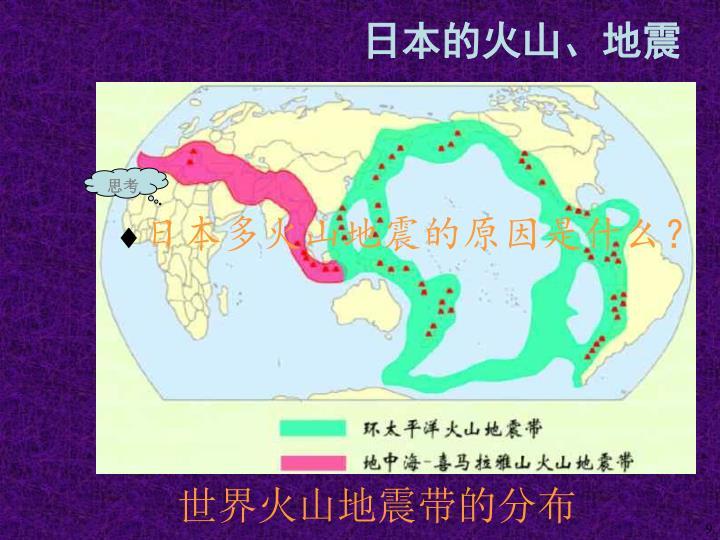 世界火山地震带的分布