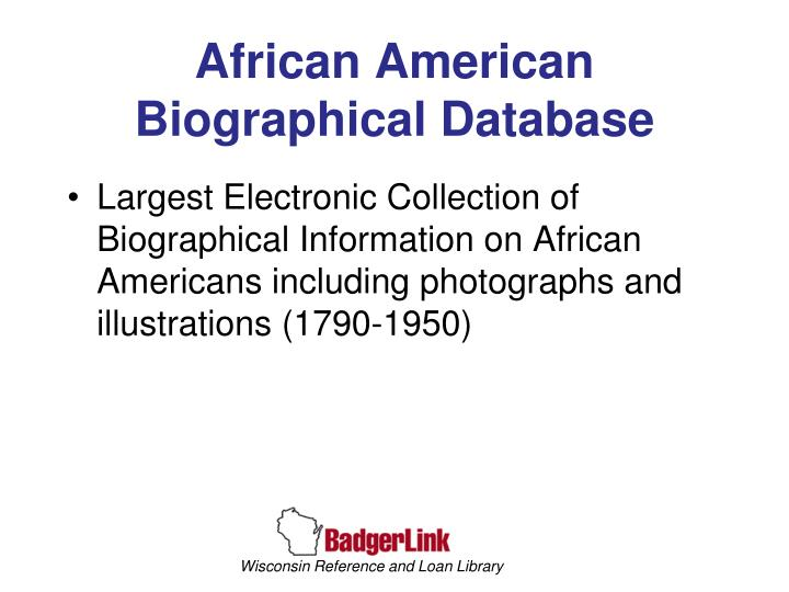 African American Biographical Database