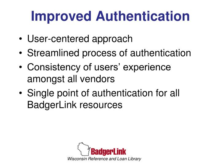 Improved Authentication
