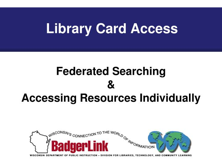 Library Card Access