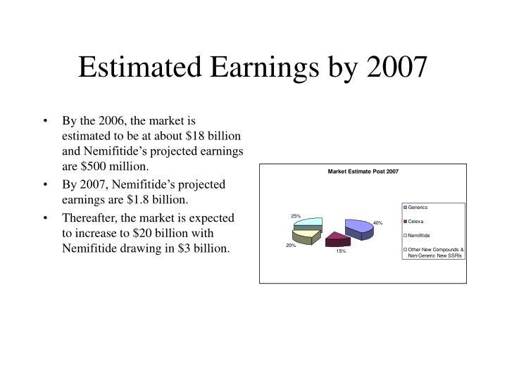 Estimated Earnings by 2007