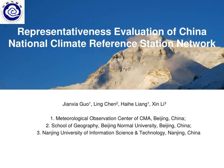 representativeness evaluation of china national climate reference station network n.