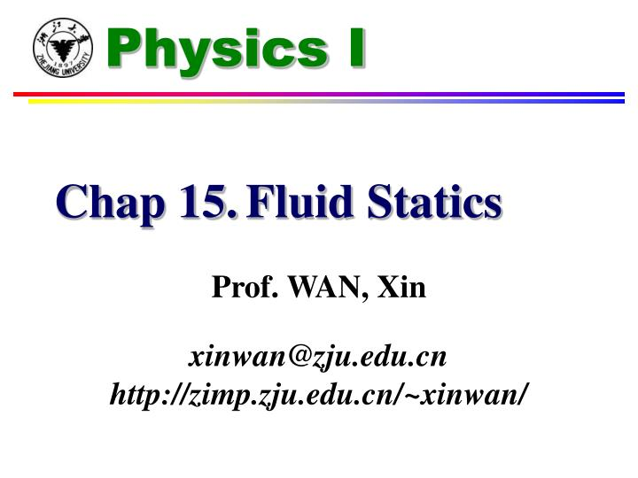 PPT - Chap 15  Fluid Statics PowerPoint Presentation - ID