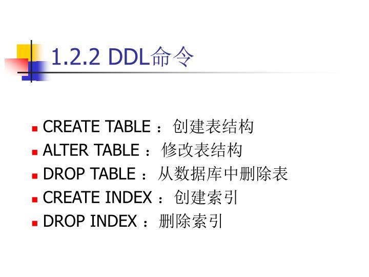 1.2.2 DDL