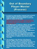 out of boundary player wavier process