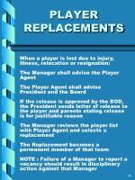player replacements