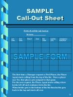 sample call out sheet
