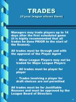 trades if your league allows them