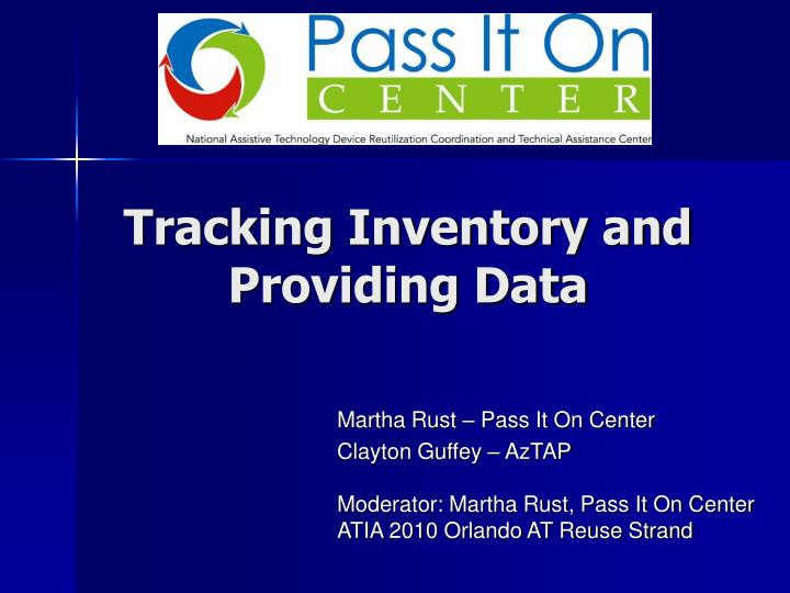 tracking inventory and providing data n.