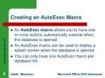 creating an autoexec macro