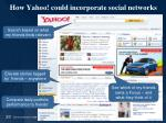 how yahoo could incorporate social networks