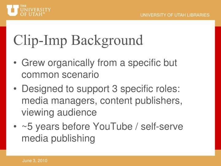 Clip imp background